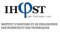logo Institut d'Histoire et de Philosophie des Sciences et des Techniques (IHPST)
