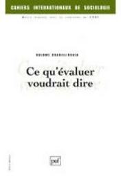 Cahiers internationaux de sociologie