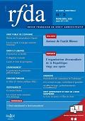 Revue française de droit administratif