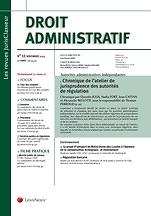 Droit administratif : revue mensuelle d'information juridique