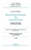 Recueil Lebon - Recueil des décisions du Conseil d'État