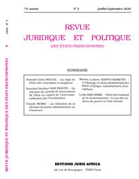 Revue juridique et politique des Etats francophones