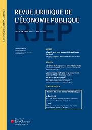 Revue juridique de l'économie publique