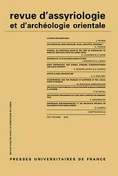 Revue d'assyriologie et d'archéologie orientale