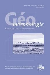 Géomorphologie : relief, processus, environnement