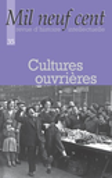 Mil neuf cent : Cahiers Georges Sorel : Revue d'histoire intellectuelle