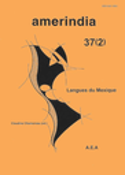 Amerindia : Revue d'Ethnolinguistique Amérindienne