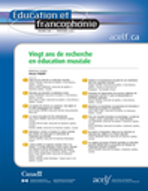 Education et francophonie