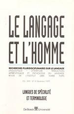 langage et l'homme