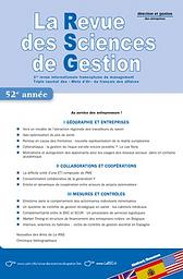 Revue des Sciences de Gestion - direction et gestion des entreprises