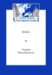 Bulletin de l'Institut Pierre Renouvin