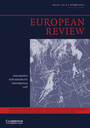 European review : interdisciplinary journal of the Academia Europaea