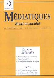 Médiatiques. Récit et société