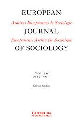 Archives européennes de sociologie / European Journal of Sociology