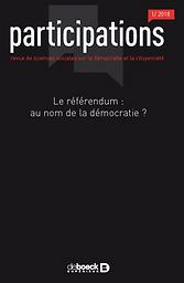 Participations : revue de sciences sociales sur la démocratie et la citoyenneté
