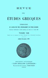 Revue des Études Grecques