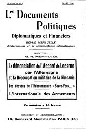 Documents politiques, diplomatiques et financiers