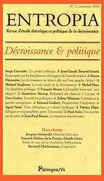Entropia : Revue d'étude théorique et politique de la décroissance