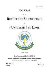 Journal de la Recherche Scientifique de l'Université de Lomé