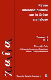 GAIA. Revue interdisciplinaire sur la Grèce ancienne