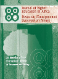 Revue de l'enseignement supérieur en Afrique = The Journal of Higher Education in Africa