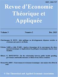 Revue d'Economie Théorique et Appliquée
