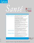 Cahiers d'études et de recherches francophones / Santé