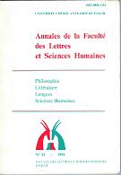 Annales de la Faculté des Lettres et Sciences Humaines
