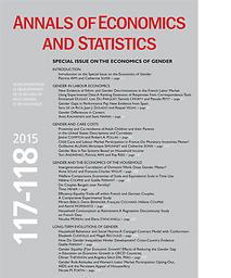 Annals of economics and statistics = Annales d'économie et de statistique