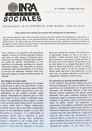 INRA Sciences Sociales : recherches en économie et sociologie rurales
