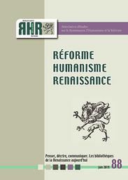Réforme Humanisme Renaissance