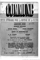 Commune : revue de l'Association des écrivains et des artistes révolutionnaires