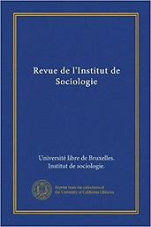 Revue de l'Institut de Sociologie