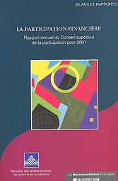 Participation financière : rapport annuel du Conseil supérieur de la participation