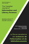 Canadian journal of information and library science = Revue canadienne des sciences de l'information et de bibliothéconomie