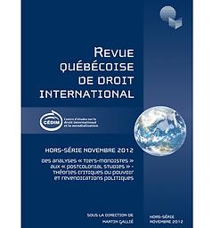 Revue québécoise de droit international
