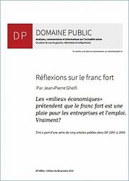 Domaine public : Analyses, commentaires et informations sur l'actualité suisse : un point de vue de gauche, réformiste et indépendant