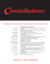 Constellations: An International Journal of Critical & Democratic Theory