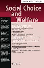 Social Choice & Welfare