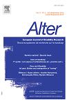 Alter: european journal of disability research = Alter : revue européenne de recherche sur le handicap