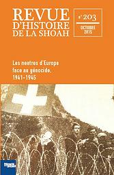 Revue d'histoire de la Shoah