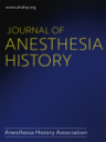 Journal of anesthesia history