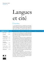 Langues et cité : bulletin de l'Observatoire des pratiques linguistiques