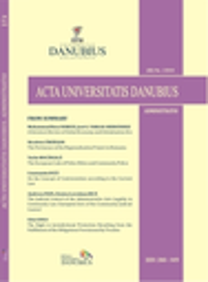 Acta Universitatis Danubius. Administratio