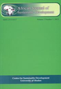 African journal of sustainable development