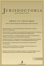 Jurisdoctoria : revue doctorale de droit public comparé et de théorie juridique