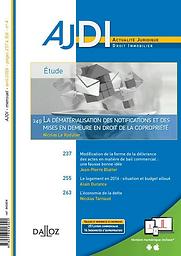 AJDI : l'actualité juridique, droit immobilier