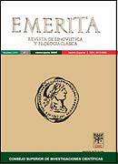 Emérita : revista de lingüística y filología clásica