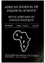 African Journal of Political Science = Revue Africaine de Science Politique