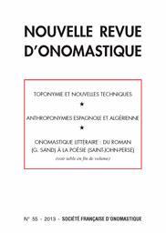 Nouvelle revue d'onomastique